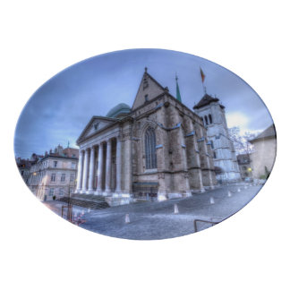 Saint Pierre de la catedral, Peter, Ginebra, Suiza Fuente De Porcelana