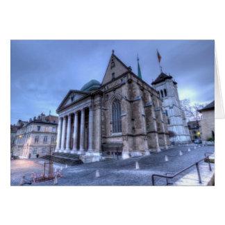 Saint Pierre de la catedral, Peter, Ginebra, Suiza Tarjeta De Felicitación