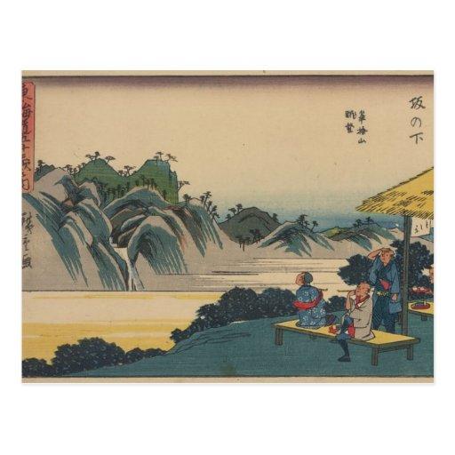 Sakanoshita, arte oriental tarjetas postales