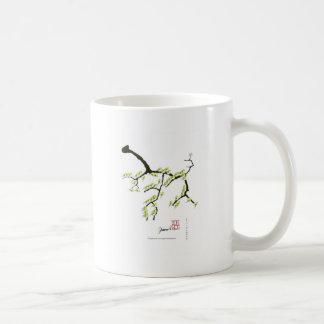 Sakura con los pájaros verdes, fernandes tony taza de café