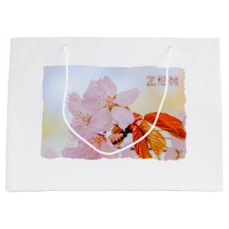 Sakura - flor de cerezo japonesa bolsa de regalo grande