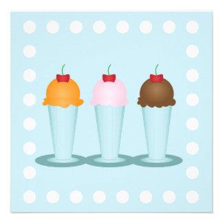 Sala de helado anuncios