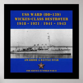 Sala de USS (DD-139) Posters