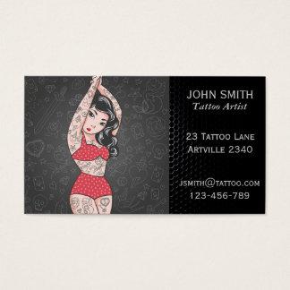 Sala del tatuaje del artista de la tinta del tarjeta de visita
