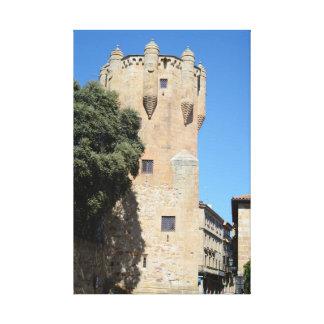 Salamanca, España. Tower del Clavero Lienzo Envuelto Para Galerias