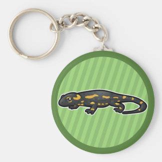 Salamander de fuego llavero redondo tipo chapa