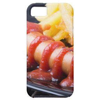 Salchichas asadas a la parrilla y patata frita funda para iPhone SE/5/5s