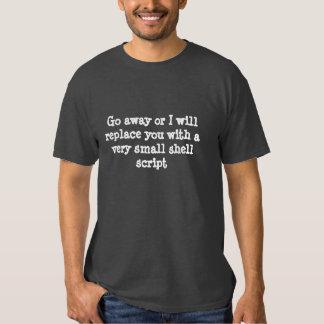 Salga o le substituiré por una camiseta de la