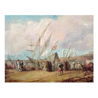 Salida de Cristóbal Colón de Palos Postal