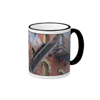 Salida de incendios taza de café