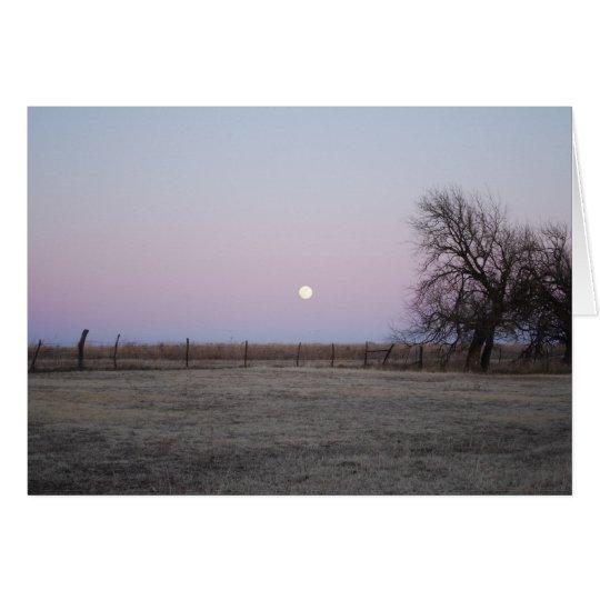 Salida de la luna en Kansas Tarjeta De Felicitación