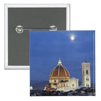 Salida de la luna y catedral de Florencia, di de l Chapa Cuadrada 5 Cm