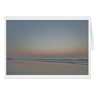 Salida del sol, borde del mar--Fotografía del Tarjeta Pequeña
