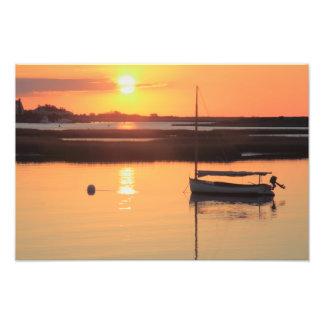 Salida del sol Catboat Impresión Fotográfica