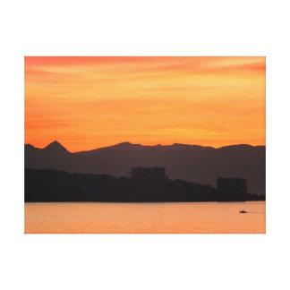 Salida del sol, Costa del Sol, España Lona Estirada Galerías