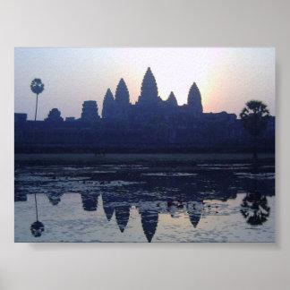 Salida del sol de Angkor Wat Póster