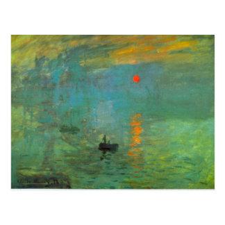 Salida del sol de Claude Monet Postal