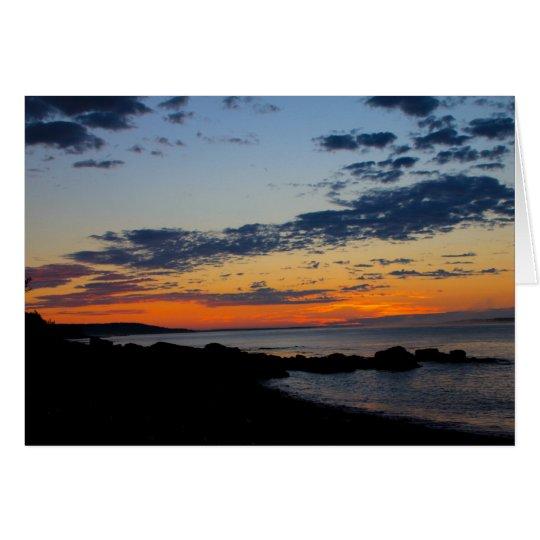 Salida del sol de la ensenada del sello, Manan Tarjeta De Felicitación