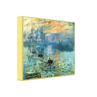 Salida del sol de la impresión de Claude Monet