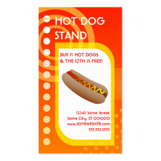 salida del sol de la lealtad del perrito caliente tarjetas de visita
