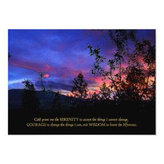 Salida del sol de la primavera del rezo de la invitación 12,7 x 17,8 cm