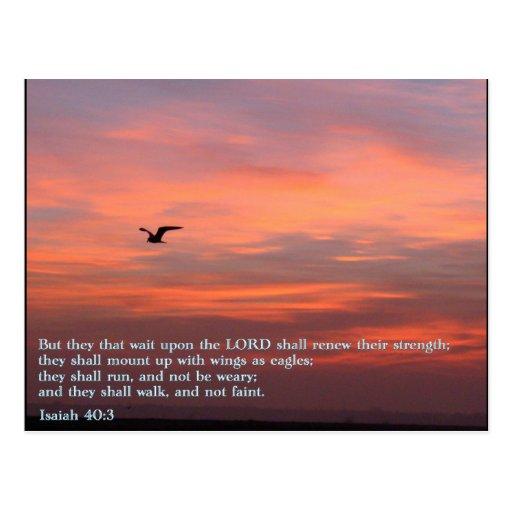 Salida del sol del 40:3 de Isaías Postales
