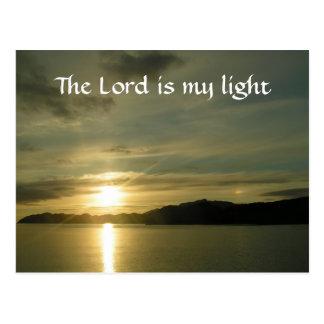 Salida del sol - el señor es mi luz postal