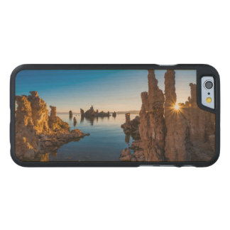 Salida del sol en el mono lago, California Funda De iPhone 6 Carved® De Arce