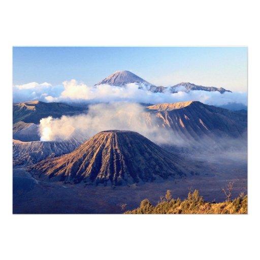 Salida del sol en el soporte Bromo, Java, Indonesi Invitacion Personal
