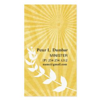 Salida del sol espiritual del oro plantillas de tarjeta de negocio