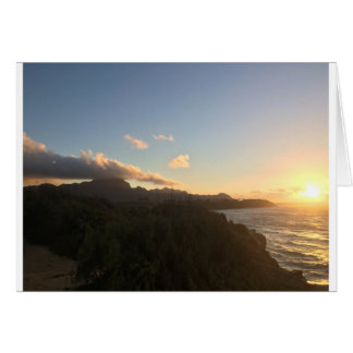 Salida del sol hawaiana tarjeta de felicitación