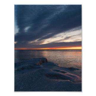 Salida del sol Milwaukee Wisconsin de North Point Arte Fotografico