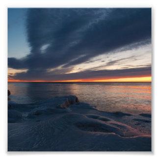 Salida del sol Milwaukee Wisconsin de North Point Arte Fotográfico