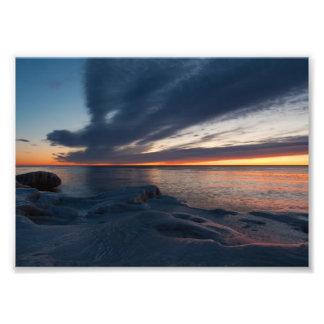 Salida del sol Milwaukee Wisconsin de North Point Fotografías