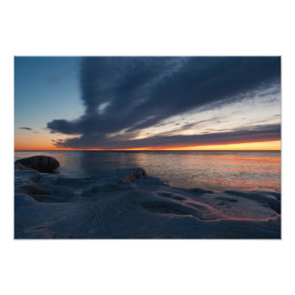 Salida del sol Milwaukee Wisconsin de North Point Fotografias