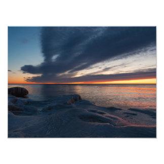 Salida del sol Milwaukee Wisconsin de North Point Foto