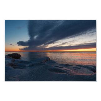Salida del sol Milwaukee Wisconsin de North Point Impresión Fotográfica