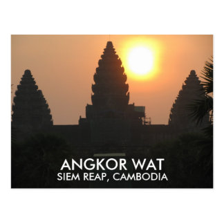 Salida del sol Siem Reap Camboya Asia del templo Postal