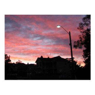 Salida del sol sobre el parque centenario, Sydney Postal