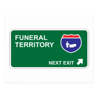 Salida siguiente fúnebre tarjetas postales