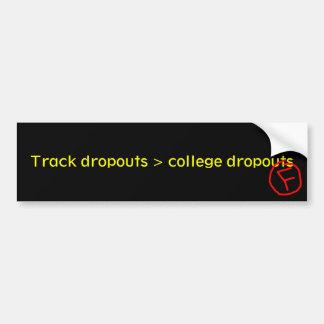 Salidas de la pista > salidas de universidad pegatina para coche