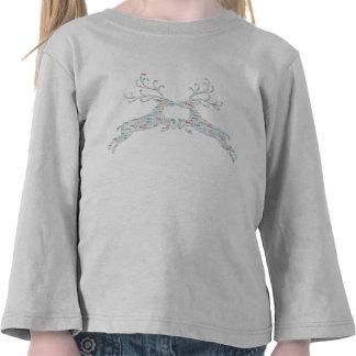 Salidas del corte de los nombres del reno camiseta