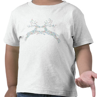 Salidas del corte de los nombres del reno camisetas
