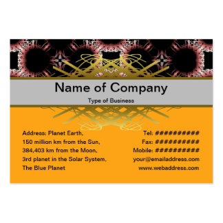 Salidas elegantes del corte de la flor de papel gr tarjetas de visita