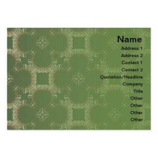 Salidas elegantes del corte de la flor de papel tarjetas de visita grandes