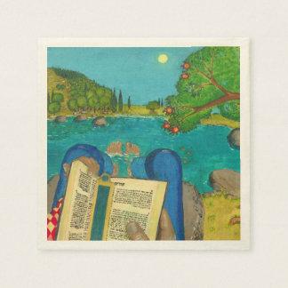Salmo 1 en pinturas cristianas judías de la biblia servilleta de papel