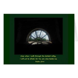 Salmo 23; Tiempo difícil Tarjeta De Felicitación