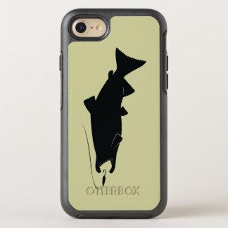 Salmones de Coho en silueta Funda OtterBox Symmetry Para iPhone 8/7