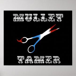 salmonete divertido del peluquero del vintage más impresiones