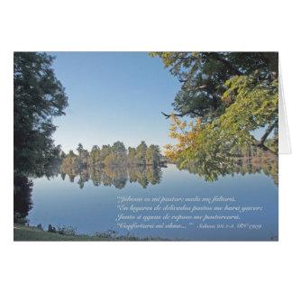 Salmos \ 23:1 - 3 (Carta) Tarjeta De Felicitación